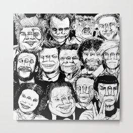 Dead Celebrities Metal Print