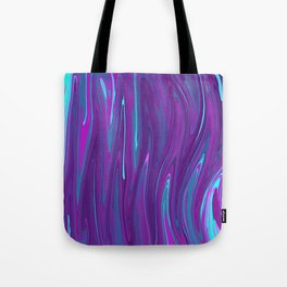 Pink, Purple, and Blue Waves 2 Tote Bag