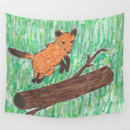 The fox doesn't say shit Wall Tapestry