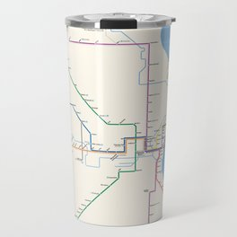 Milwaukee Transit System Map Travel Mug