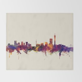 Johannesburg South Africa Skyline Throw Blanket