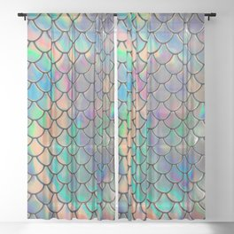 Iridescent Scales Sheer Curtain