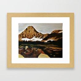 lakefront views Framed Art Print