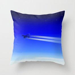 Jet Heading Home Throw Pillow