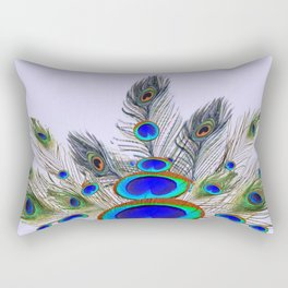 GREEN PEACOCK FEATHER & JEWELS #2 Rectangular Pillow