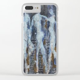 Resurrection 1 by GJ Gillespie Clear iPhone Case