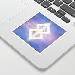 Linked Lilac Diamonds :: Floating Geometry Sticker