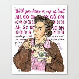 Mrs. Doyle from Father Ted tv series Canvas Print