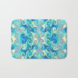 Seamless Wave Spiral Abstract Pattern Bath Mat