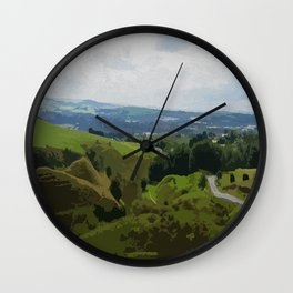 Rochdale View from Iron Waters2 Wall Clock