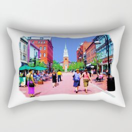 Vermont Street Painting Rectangular Pillow