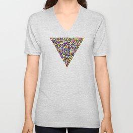 Colored Triangles / Triangulos de Colores Unisex V-Neck