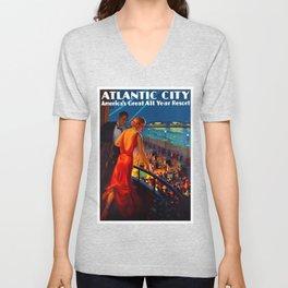 Atlantic City New Jersey Travel Unisex V-Neck