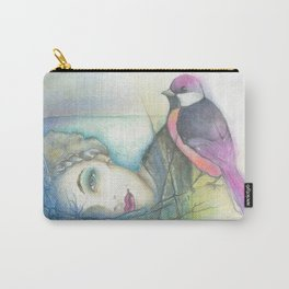 Bird lady Carry-All Pouch
