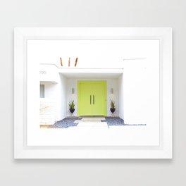 Lime Door Palm Springs Framed Art Print