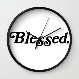 Old School Blessed Wall Clock