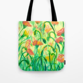 Sun drenched Poppies Tote Bag