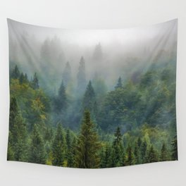 Misty Forest Beauty Wall Tapestry