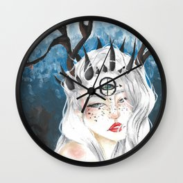 Let me bloom Wall Clock