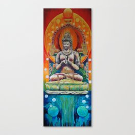 Guanyin on Lotus Canvas Print