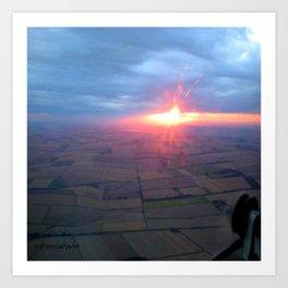 Flying at Sunset (Full Sutton) Art Print