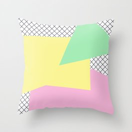 Pastels & Nettings Throw Pillow