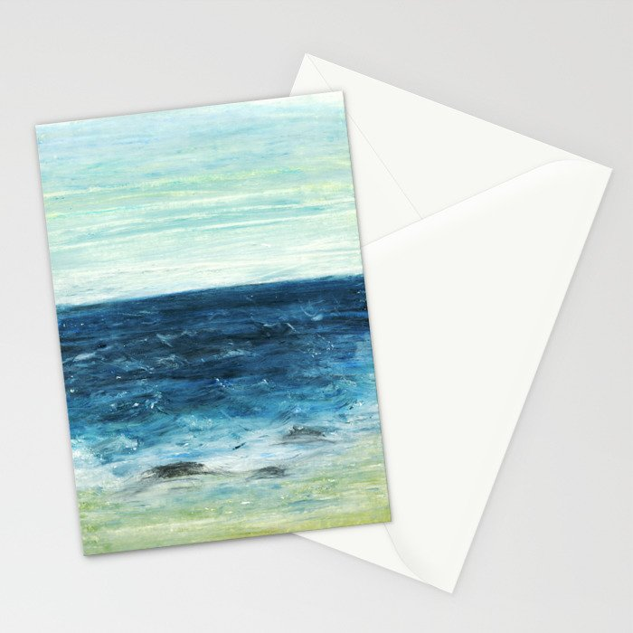 Horizon at the Baltic sea Stationery Cards