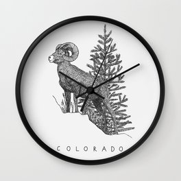 COLORADO STATE Wall Clock