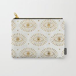 Evil Eyes Gold Carry-All Pouch