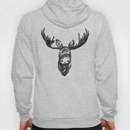 Beautiful Moose Head Design Hoody