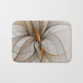 Elegant Chaos, Abstract Fractal Art Bath Mat