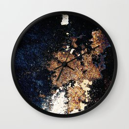 Alien Continents ruined wall texture grunge Wall Clock