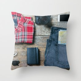 Get ready for the trip. Man edition Throw Pillow