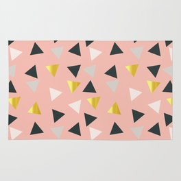 Gold triangles multi Rug