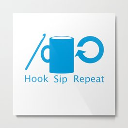 Hooks and Coffee Metal Print