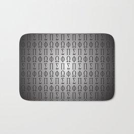 Greek Alphabet Pattern Bath Mat