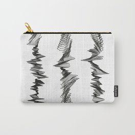 Pattern Collection. Black and White. Pulse. Carry-All Pouch