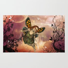 Cute little fairy in the night Rug