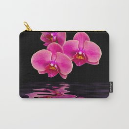 Mystical Pink Orchids Reflections Carry-All Pouch