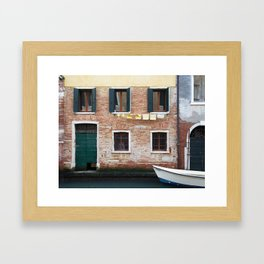 Out to dry in Venice Framed Art Print