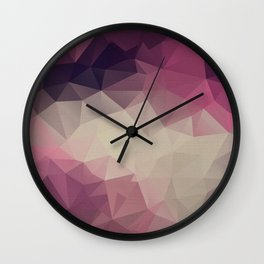 Polygon pattern . Triangles with a texture craquelure . Wall Clock