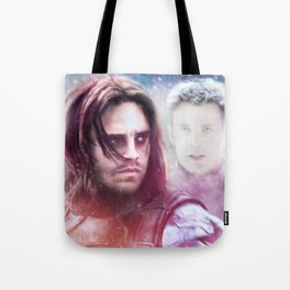 Winter Soldier - The Angel On My Shoulder (Steve and Bucky) Tote Bag