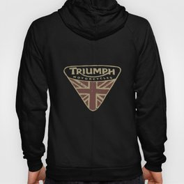 Nwt Lucky Brand Triumph Motorcycle Uk Flag Badge Logo Gray  Motorcylce t-shirts Hoody