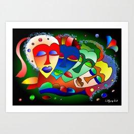 Foursome Art Print