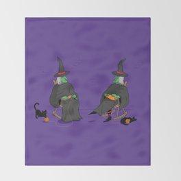Witch Crafts Throw Blanket