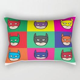 Bat-Popart-Man Rectangular Pillow