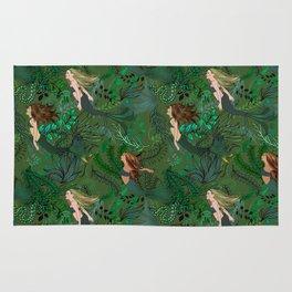 Mermaids in an Underwater Garden Rug