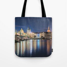 Charle's Bridge at Night Tote Bag