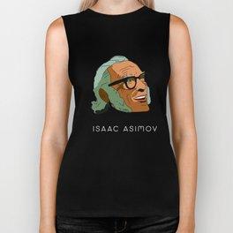 Isaac Asimov Portrait Biker Tank