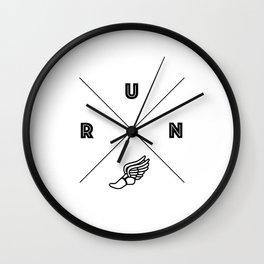 Mercury's Wings Wall Clock